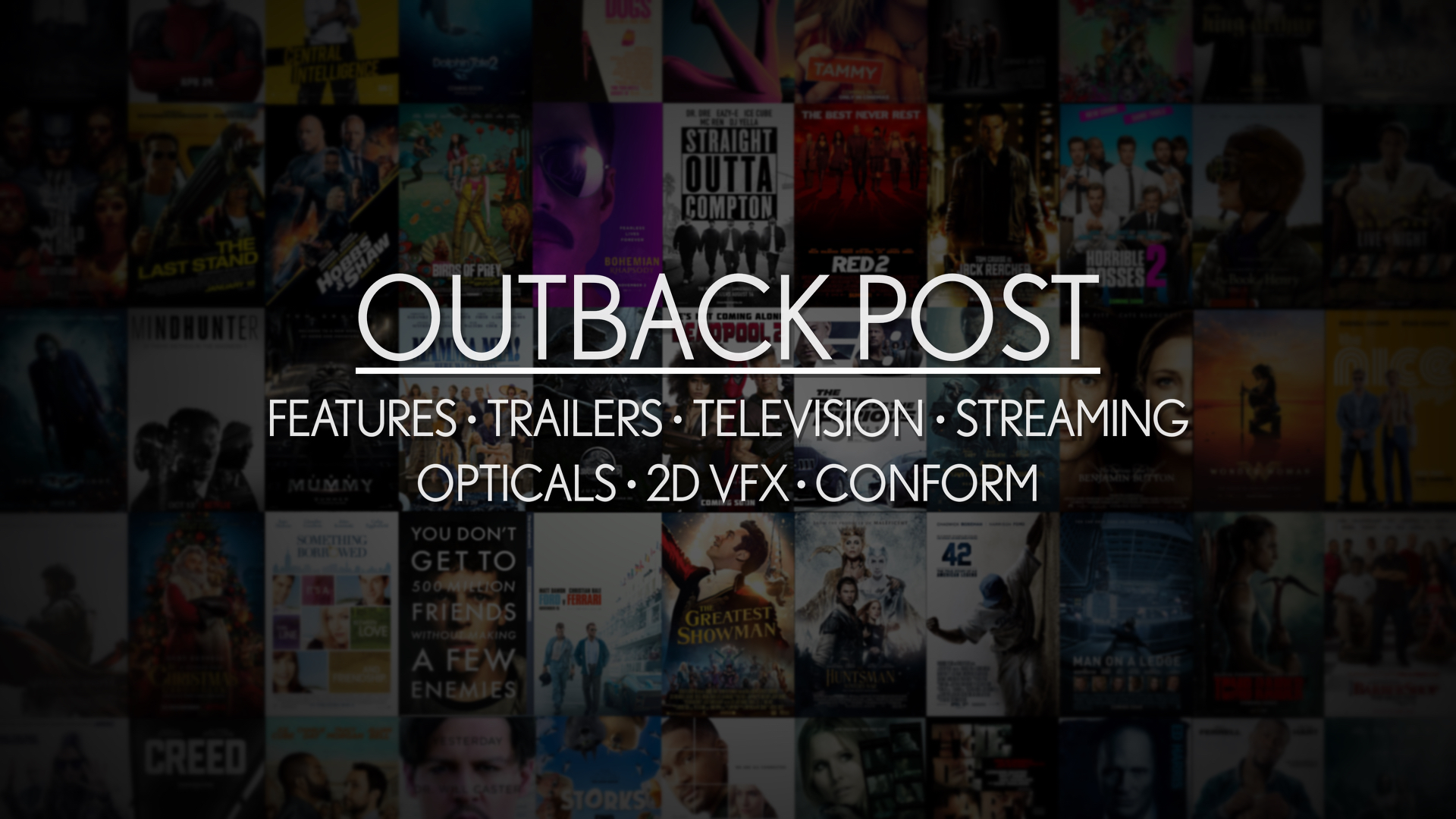 Outback Post - Theatrical Features and Trailers, VFX, Conform- Assorted Movie Posters